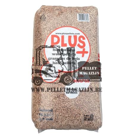 Plus+ Pellets gemengd hardhout zak voorkant